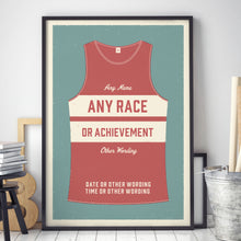 Load image into Gallery viewer, Personalised Running Vest Print horizontal stripes (more colours available)