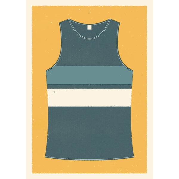Personalised Running Vest Print horizontal stripes (more colours available)