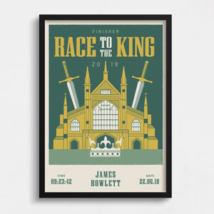Race to the King Personalised Print