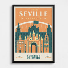Load image into Gallery viewer, Personalised Seville Marathon print