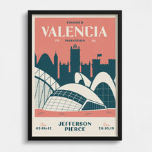 Load image into Gallery viewer, Personalised Valencia Marathon Print