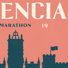 Load image into Gallery viewer, Personalised Valencia Marathon Print close up 2
