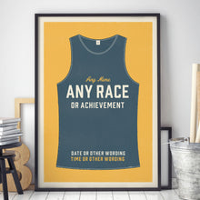 Load image into Gallery viewer, Personalised Running Vest Print no stripes (more colours available)