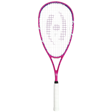 Junior Squash Racquet, with 1/2 Cover, Pink/Purple