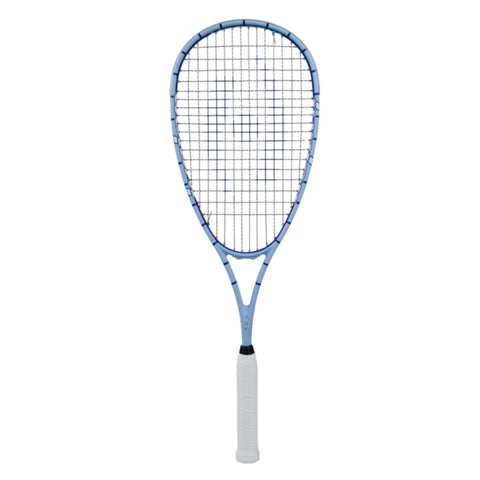 Junior Squash Racquet, with 1/2 Cover, CarolinaBlue/Royal Blue