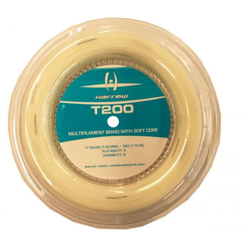 T200 Squash String - 17 Gauge - 360' Reel - Crystal