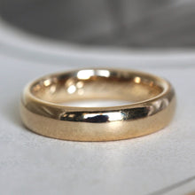 Load image into Gallery viewer, Antique 18k Wedding Band, Edwardian Heavy Yellow Gold Stacking Stackable Ring, Engraved Date 1912