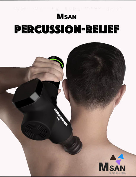 Portable Deep Tissue Percussion Massager | Free Shipping North America | 2 Year Warranty* - MSAN Solutions Inc