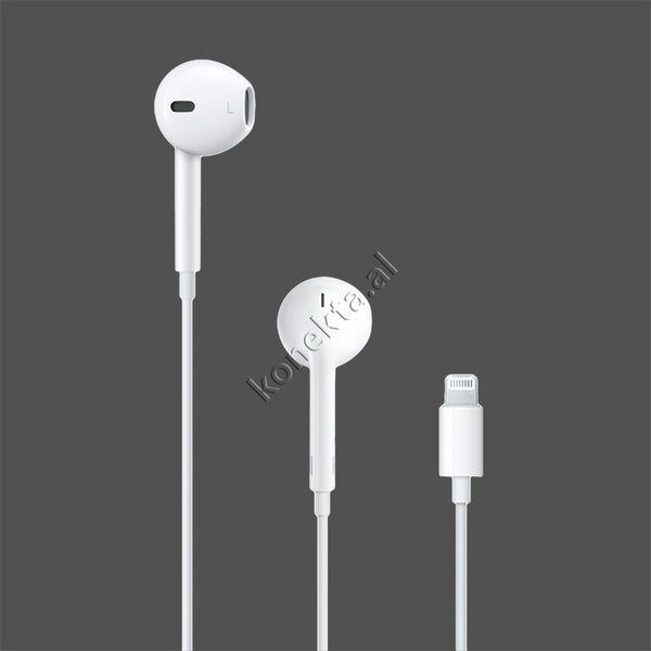 KUFJE ORIGJINALE APPLE EARPODS ME KABELL ME FISHE AUDIO LIGHTNING