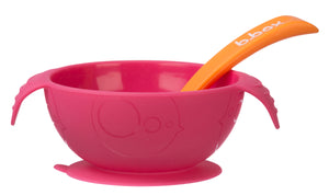 B Box - Silicone Bowl and Spoon - Strawberry