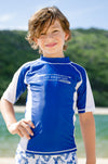SUN EMPORIUM CHILD BOY BLUE RASH SHIRT