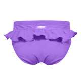 CUPID GIRL - STEPPING STONES PURPLE FRILL SWIM NAPPY