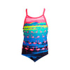 FUNKITA - TODDLER GIRLS PRINTED ONE PIECE - FLAMINGO FLOOD