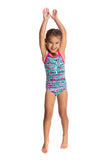 FUNKITA - TODDLER GIRLS PRINTED ONE PIECE - MINTY MADNESS