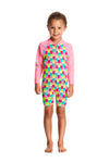FUNKITA - TODDLER GIRLS PRINTED ONE PIECE GO JUMPSUIT - MINTY MITTENS