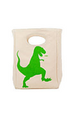 FLUF - T-REX LUNCH BAG CERTIFIED ORGANIC COTTON
