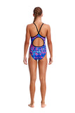 FUNKITA - GIRLS DIAMOND BACK ONE PIECE - RUSTED