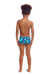 FUNKY TRUNKS - TODDLER BOYS PRINTED SQUARE TRUNKS - HOLY SEA