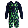 FUNKY TRUNKS - TODDLER BOYS PRINTED GO JUMP SUIT - PRICKLY PETE