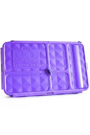 GO GREEN ORIGINAL LUNCH BOX AND DRINK BOTTLE - PURPLE