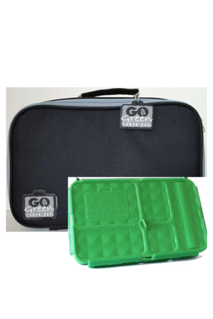 GO GREEN ORIGINAL LUNCH BOX SET - BLACK STALLION