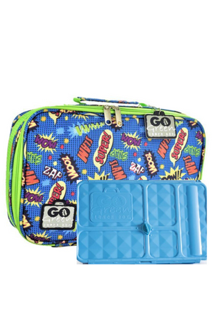 GO GREEN ORIGINAL LUNCH BOX SET - SUPER HERO COMIC