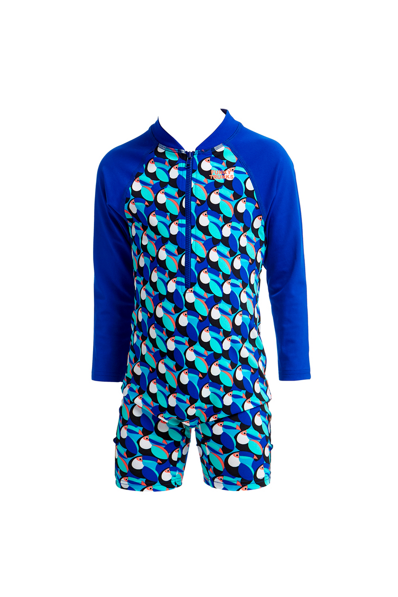 CHLORINE RESISTANT SUNSUIT FUNKY TRUNKS PRICKLY PETE GO JUMP SUIT TODDLER BOYS