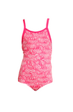 FUNKITA - TODDLER GIRLS ECO ONE PIECE - PAINTED PINK