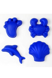 SILICONE MOULD SET OF 4 NEON BLUE