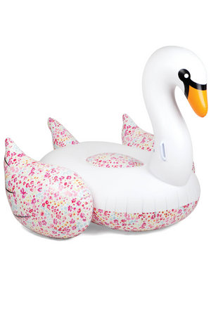 SUNNYLIFE - SWAN WITH FLOWERS LUXE FLOAT