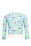 CUPID GIRL - UNDER THE SEA LONG SLEEVE FRILL RASH VEST