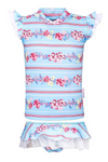 SUN EMPORIUM BABY GIRLS RASH GUARD AND NAPPY COVER SET