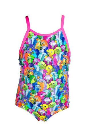 FUNKITA - TODDLER GIRLS PRINTED ONE PIECE - BANG BANG BUDGIE