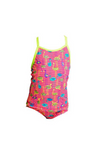FUNKITA - TODDLER GIRLS PRINTED ONE PIECE - FLAMING STRIPES