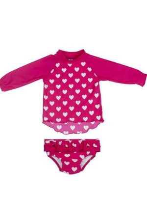 ESCARGOT - LOVE HEART BABY SUNTOP SET