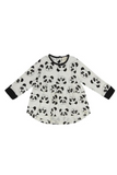 Winter - Turtle Dove Organic Cotton Panda Drop Hem Dress