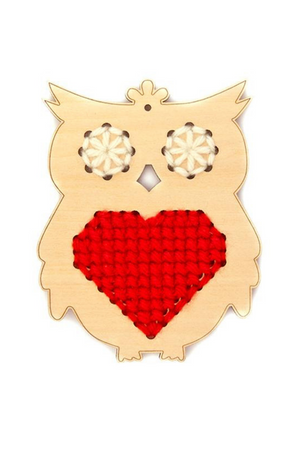 HUCKLEBERRY - WOODEN CROSS STITCH KIT OLLIE OWL