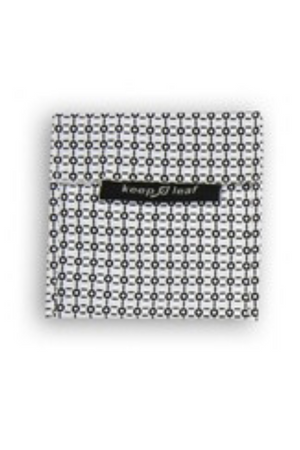 KEEP LEAF B&W LARGE REUSABLE BAGGIE