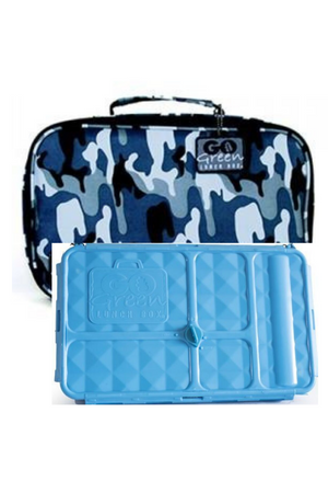 GO GREEN ORIGINAL LUNCH BOX SET - BLUE CAMO