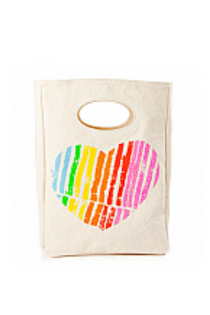 FLUF - HEART LUNCH BAG CERTIFIED ORGANIC COTTON