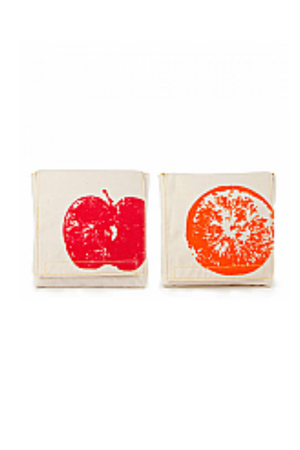 FLUF - APPLE SNACK BAG ORGANIC COTTON 2 PACK