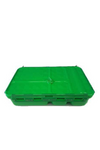 GO GREEN SNACK BOX LUNCH BOX  - GREEN