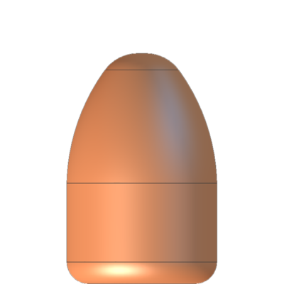 9mmP 115gr ROUND NOSE FRONTIER BULLETS #100106'