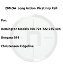 Picatinny Long Action 20MOA. For Remington700, Bergara B14, Christensen Ridgeline.#PLM252700