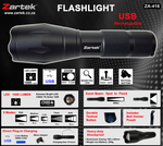 USB LED Flashlight #ZA-416