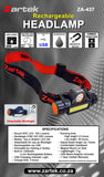 ZA-437 Rechargeable LED Headlamp USB