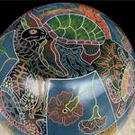 Turtle and Flower Urn