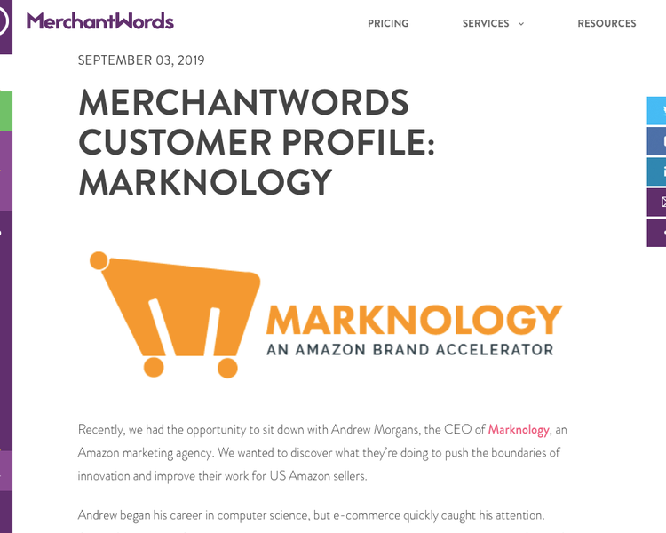 Merchant Words