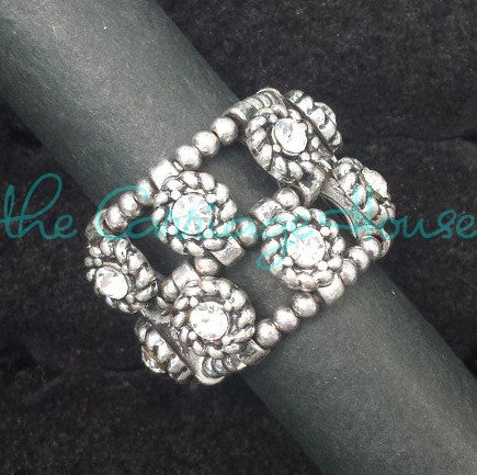 Multi Floral Stretch Ring