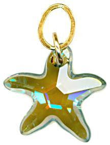 16mm Starfish Cut Swarovski Crystals Hoopla Earring / Necklace Charms